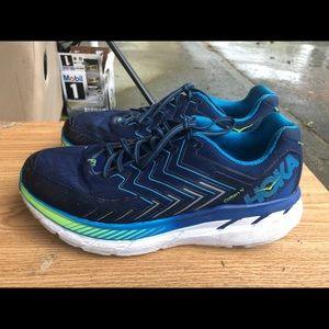 Hoka One Clifton 4 Men's Blue Sneakers SZ 11.5(2E)